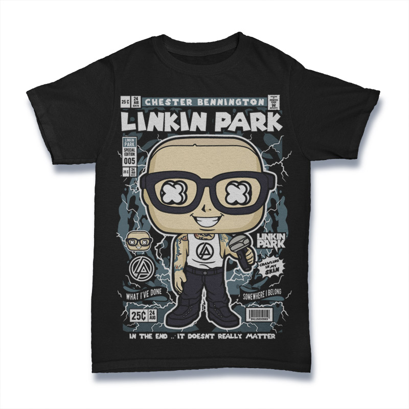 Cartoon Band Shirt Linkin Park
