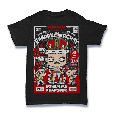 Cartoon Band Shirt Freddy Mercury
