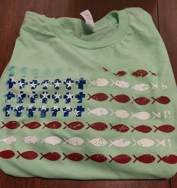 Distressed Fish Flag ***CLEARANCE***
