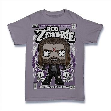 Cartoon Band Shirt Rob Zombie