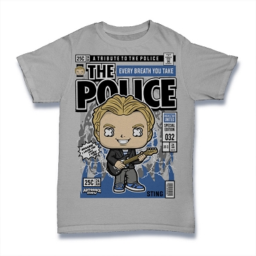 Cartoon Band Shirt The Police