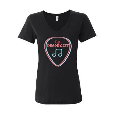 The Deadbolts Logo Women's V-Neck T-Shirt